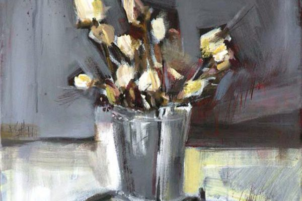 Roses in Vase by Gregory Gibboney